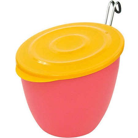 《Sceltevie》掛式淺蓋收納桶(桃)