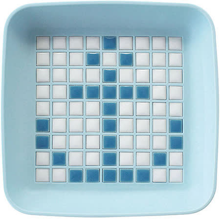 《Sceltevie》馬賽克拼貼置物盒(藍)