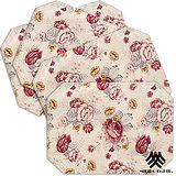 《M.B.H─玫瑰花園》純棉防潑水餐墊(米)(4入)