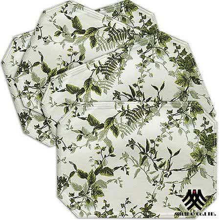 《M.B.H─綠葉仙境》純棉防潑水餐墊(4入)