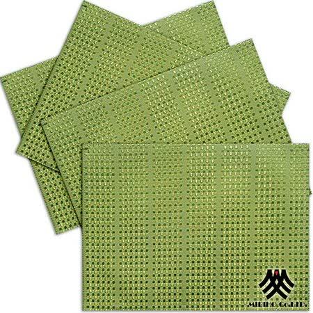 《M.B.H─莫卡格子》緹花防潑水餐墊(綠)(4入)