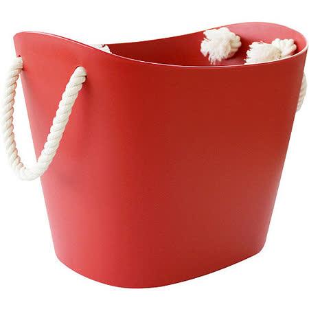 《Sceltevie》棉繩收納籃(紅S)