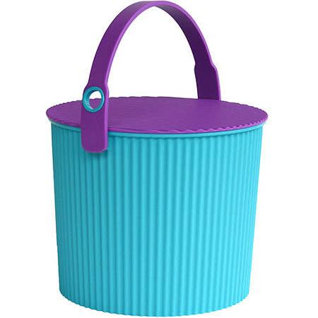 《Sceltevie》瓦楞收納桶(藍綠S)