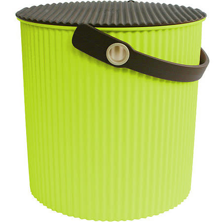 《Sceltevie》瓦楞收納桶(綠L)