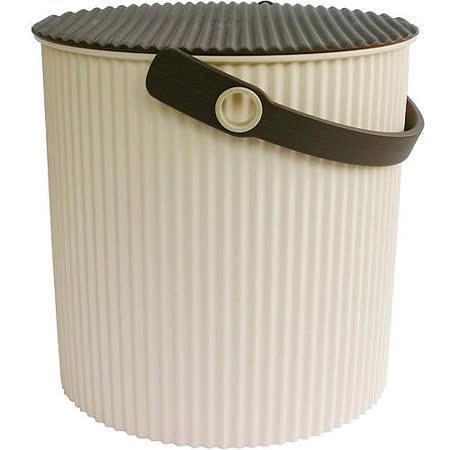 《Sceltevie》瓦楞收納桶(米L)