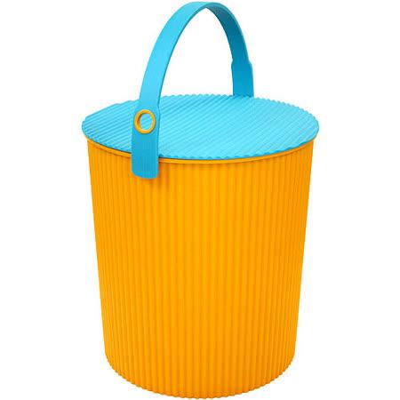 《Sceltevie》瓦楞收納桶(橘XL)