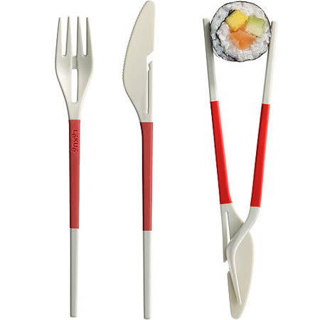 《LEKUE》3in1餐具(紅)