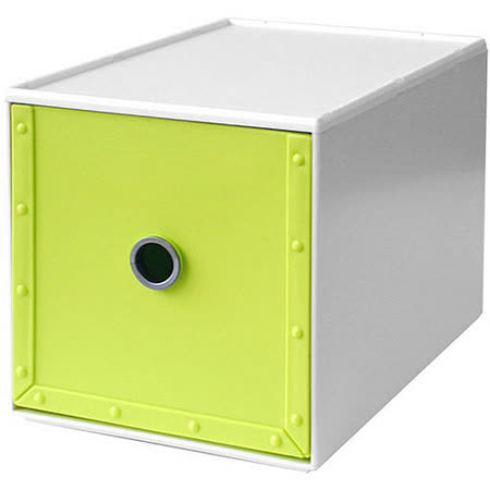 《Waybe》PP收納盒(綠M)