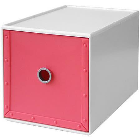 《Waybe》PP收納盒(桃M)
