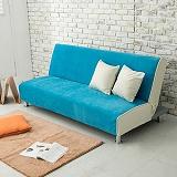 【日安家居】Macaron法式馬卡龍雙色沙發床(共5色)