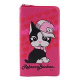 Rebecca Bonbon 6.4吋通用時尚系列皮革手機L包-嘻哈甜心