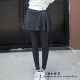 【ENNE】甜美荷葉大裙擺裙褲假兩件內搭褲(2色任選)