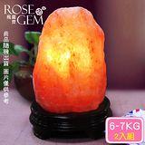 【瑰麗寶】精選玫瑰寶石鹽晶燈6-7kg 2入