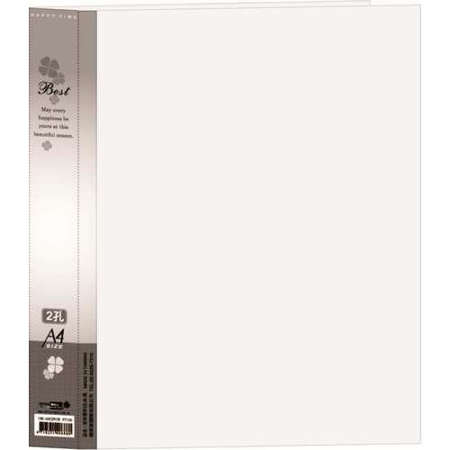 【檔案家】新幸運草(2)孔夾3.5CM  - 黑色