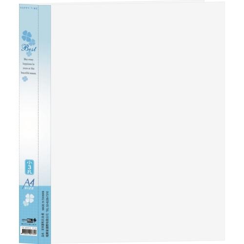 【檔案家】新幸運草斜透(小3)孔夾小3.5CM - 藍色