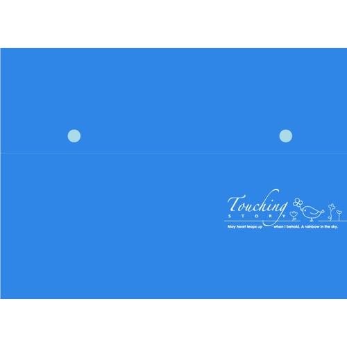 【檔案家】心動A4精美雙扣 12層風琴夾  - 藍色