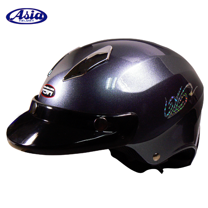 ~ASIA A609~THUNDER雷電擾流半罩式安全帽 亮光灰