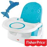 【費雪牌 Fisher-Price】多功能寶寶小餐椅+美國 幼兒學習軟性鯊魚牙刷0-1Y(固齒器)