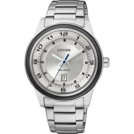 CITIZEN Eco-Drive 時尚都會三針女錶-銀 FE1094-65A