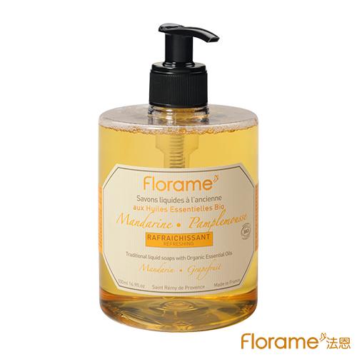 ~Florame法恩~有機法式 液態皂500ml~平衡^(柑橘 葡萄柚^)