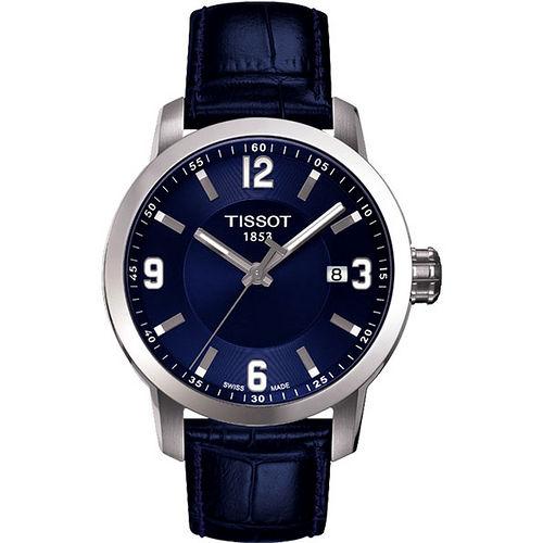 TISSOT PRC200 系列都會石英腕錶-藍 T0554101604700