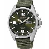 SEIKO Kinetic 極地傳說人動電能腕錶-綠 5M83-0AA0G
