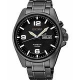 SEIKO Kinetic 極地傳說人動電能腕錶-IP黑 5M83-0AA0SD