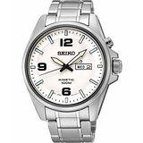 SEIKO Kinetic 極地傳說人動電能腕錶-銀 5M83-0AA0S