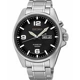 SEIKO Kinetic 極地傳說人動電能腕錶-黑 5M83-0AA0D