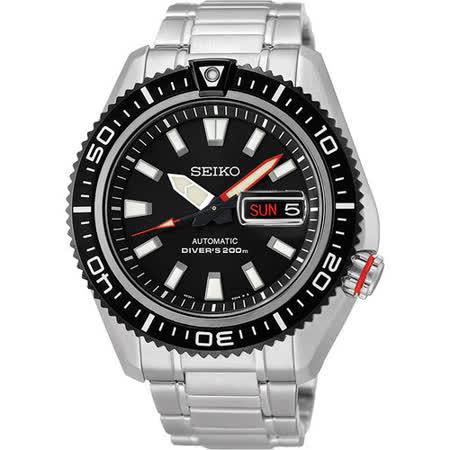 SEIKO Mechanical 怒海潛將200米機械腕錶-黑 4R36-02Z0D