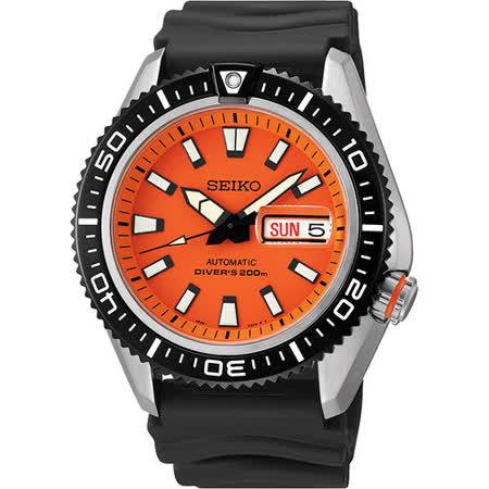 SEIKO Mechanical 怒海潛將200米機械腕錶-橘 4R36-02Z0O