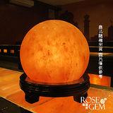 【瑰麗寶】精選雲彩雲中月圓圓球造型鹽晶燈