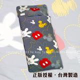 迪士尼經典卡通-米奇塗鴉-(灰)-純棉冬夏兩用(加大)兒童睡袋