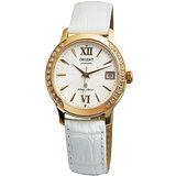 ORIENT 璀璨光彩時尚機械女錶(白/36mm) FER2E002W