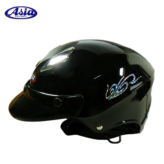 ASIA A609 四合扣款式 摩登安全帽 亮黑