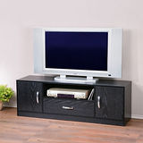 《Homelike》個性時尚電視櫃-黑色木紋
