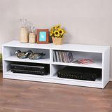 《Homelike》個性時尚四格電視櫃-純白色
