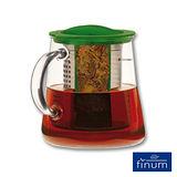 【Finum】玻璃泡茶控制壺800ml(綠)