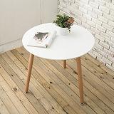【日安家居】Elisa艾里沙北歐風圓桌(白色/黑色)