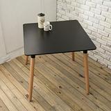 【日安家居】Elisa艾里沙北歐風方桌(黑色)