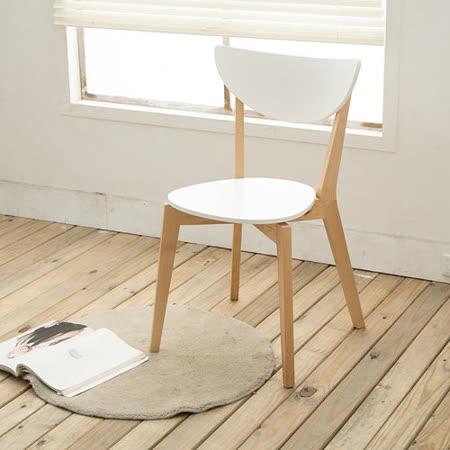 【日安家居】Caradle卡拉朵北歐風實木餐椅