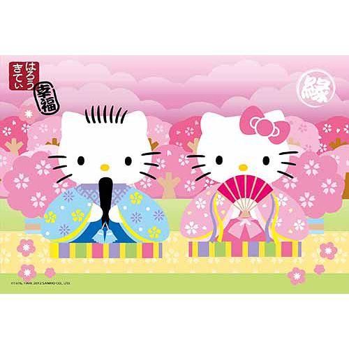【sanrio三丽鸥家族拼图】hello kitty和风樱花恋拼图300片