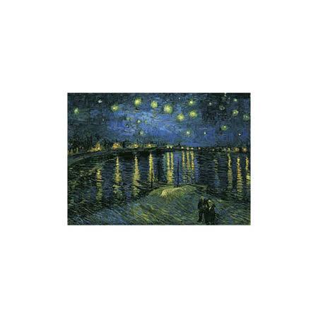 【名畫系列】隆河的星夜(梵谷 Van Gogh)520片夜光拼圖