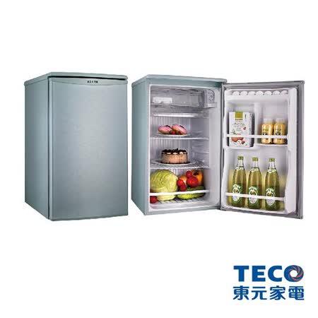 TECO東元 91公升單門一級節能 電冰箱R1061(SC/LA)(淺綠灰/金鑽銀)