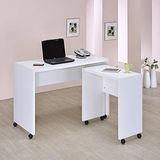 【空間生活】伯爵L型簡約電腦桌(白)