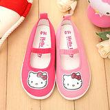 【童鞋城堡】Hellokitty三麗鷗小icon帆布休閒鞋台灣製714719