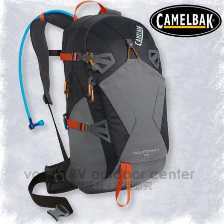 【美國 CAMELBAK】最新款 fourteener 20L 超輕耐磨水袋背包(附3L水袋)_可當攻頂包.適自行車.越野跑步.登山健行/炭黑 62141
