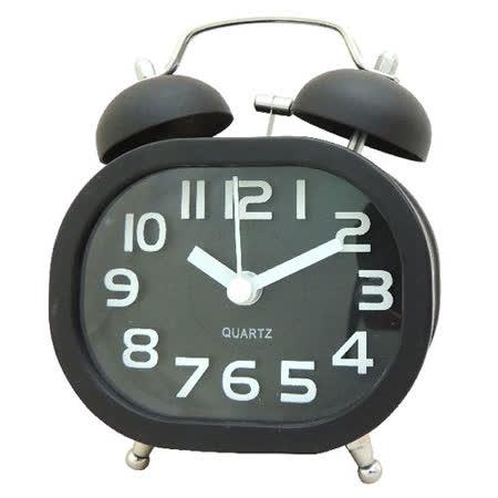 馬卡龍 復古數字方雙鈴鬧鐘SV-1308
