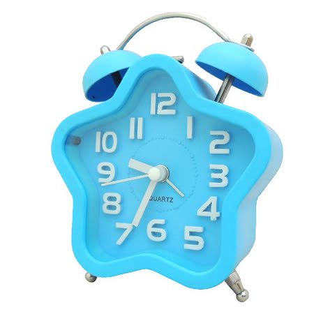 馬卡龍 復古星型雙鈴鬧鐘SV-1309