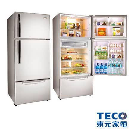 TECO東元 600公升變頻一級節能 三門冰箱(R6061VXK/H)(琉璃金/古銅鑽)
